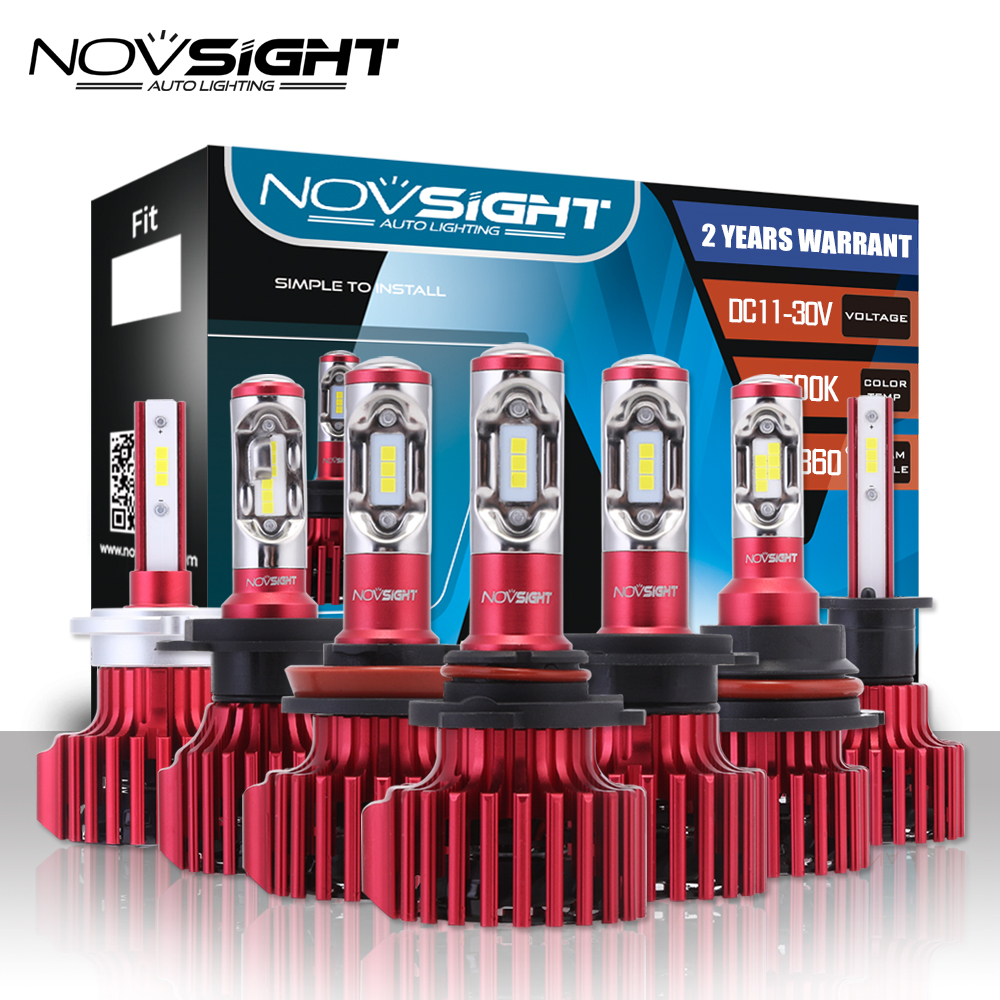 NOVSIGHT Lampada Led H4 H7 H11/H8/H9 H13 H15 Car Led Headlights Hi/lo Beam 9005 9006 H1 H3 D1 60W 10000LM Fog Light Lamps Bulbs nighteye h1 9006 car led headlights 12v 60w 1800lm fog lights bulbs copper heat conduction 6000k white led fog lamps 2 pcs