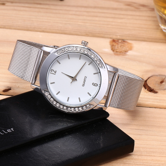 Top Brand Women's Quartz Bracelet Watch Women Dress Watches Ladies Silver Casual