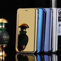 Luxury Original Case For Apple Iphone 5 S 5s By Pc Mirror Pu Leather Smart View
