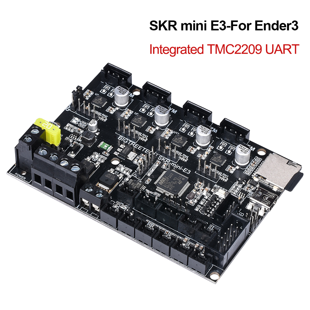 Presale BIGTREETECH SKR mini E3 Control Board 32Bit With TMC2209 UART Driver 3D Printer parts Cheetah V1.2a For Creality Ender 3