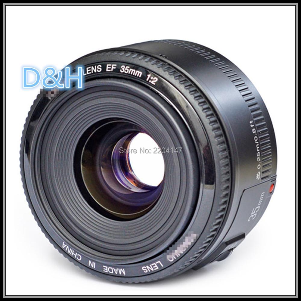 Nouvel objectif 35mm YN35mm F2.0 objectif grand angle fixe/objectif de mise au point automatique premier pour Canon 600d 60d 5DII 5D 500D 400D 650D 600D 450D
