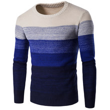 LASPERAL Gradient Color Knitted Sweater Men 2019 New Arrival Casual Pullover Men Autumn O Neck Quality Brand Male Sweaters S-2XL(China)
