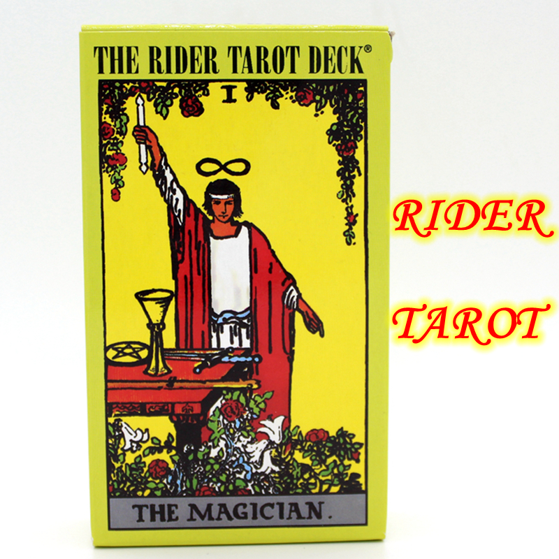 Full English The Rider Tarot Deck Centenary Edition Stalo žaidimas 78 PCS Žaisti kortelę Waite Tarot Rider-waite Tarot stalo žaidimas