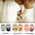 Unisex Baby Slipers Floor Socks Girls/Boy Children Cut  Cartoon Asymmetric Animal Rabbit Rat Bear Pattern Socks
