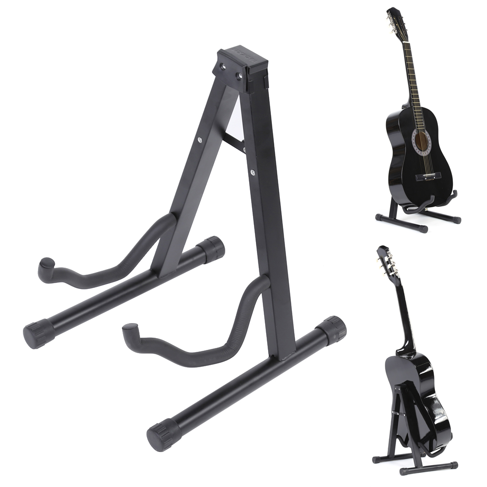 Guitar Stand Universal Folding A-Frame use for Acoustic Electric Guitars Guitar Floor Stand Holder Black High Quality folding a frame electric guitar floor stand holder acoustic guitar electric guitar bass floor rack holder promotion