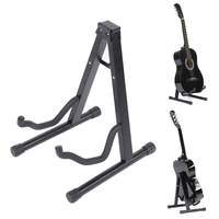 Guitar Stand Universal Folding A Frame Use For Acoustic Electric Guitars Guitar Floor Stand Holder Black