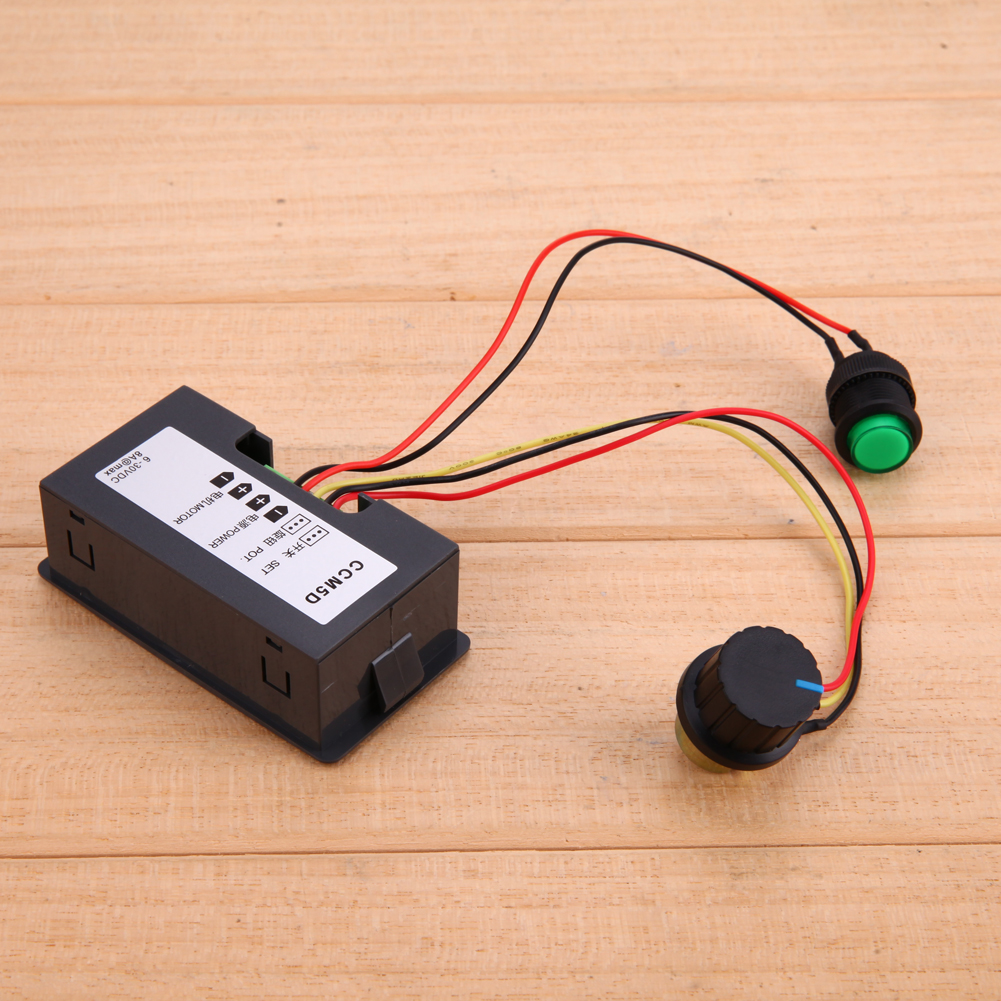 Motor PWM Speed Controller Adjustable DC 6V-30V 12V 24V MAX 8A 16kHz W/ Digtal Display Dc motor Control CV governor Switch ac 220v 50hz motor speed control controller for dc 220v 500w motor adjustable 100 x 60 x 110mm