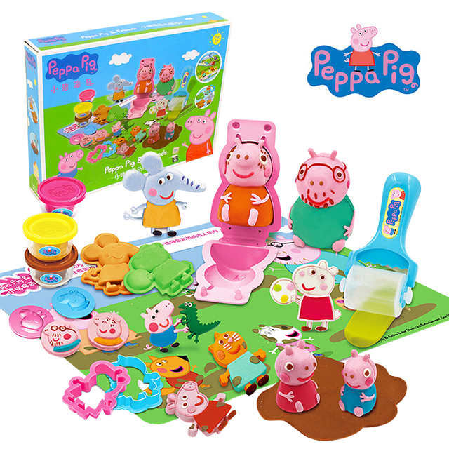 2018 original Peppa Pig Deluxe Modeling Clay kids toy Set Brand New --Peppa Pig & friend - with original box