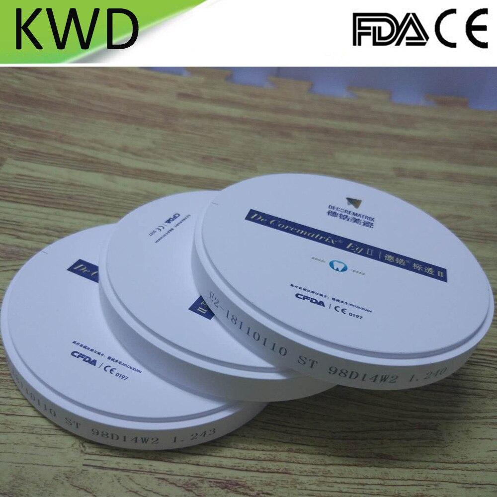 1 części/partia Dental bloczek cyrkonowy ST OD98X14mm otwarty System Weiland CAD CAM bloczek cyrkonowy ceramiczne materiały do protez w Wybielanie zębów od Uroda i zdrowie na  Grupa 1