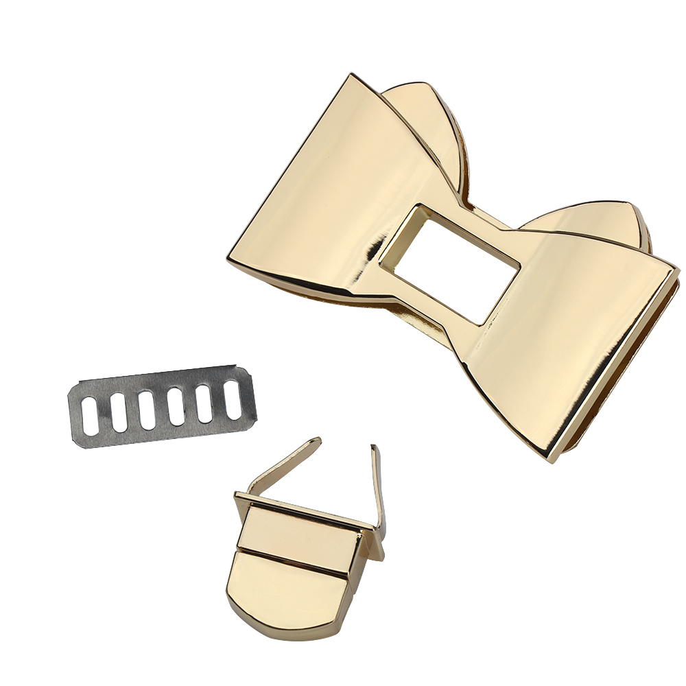 1PC Durable Bow-knot Shape Clasp Turn Locks Metal Twist Lock For DIY Handbag Bag Hardware Practical Bags Parts Accessories