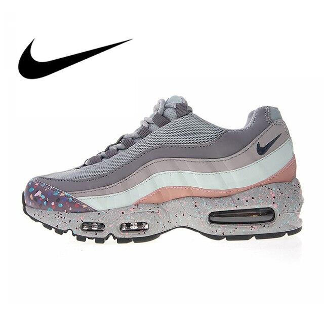 Original autêntica Nike WMNS Air Max 95 SE tênis de corrida das mulheres calçados esportivos de moda designer sports respirável 918413- 002