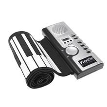 Горячая Распродажа, гибкая складная Электронная Мягкая клавиатура, пианино, портативная 61 клавиша