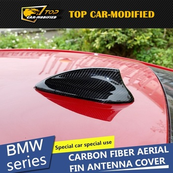 Free shipping Universal Carbon Fiber Shark Fin Roof Antenna for BMW 4 series