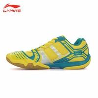 Li Ning Men's Badminton Shoe Breathable Anti Slippery Sneakers Shock Absorption Li Ning Sports Athletic Shoes AYTJ073 3 L529OLB