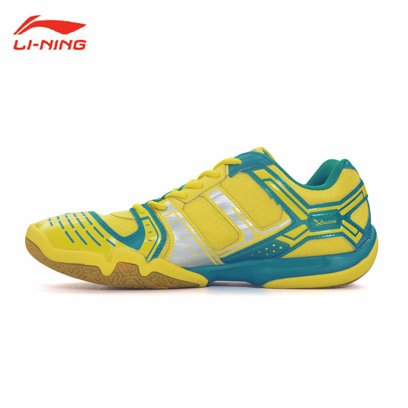 Li-Ning Men's Badminton Shoe Breathable Anti-Slippery Sneakers Shock Absorption Li Ning Sports Athletic Shoes AYTJ073-3 L529OLB li ning professional badminton shoe for women cushion breathable anti slippery lining shock absorption athletic sneakers ayal024