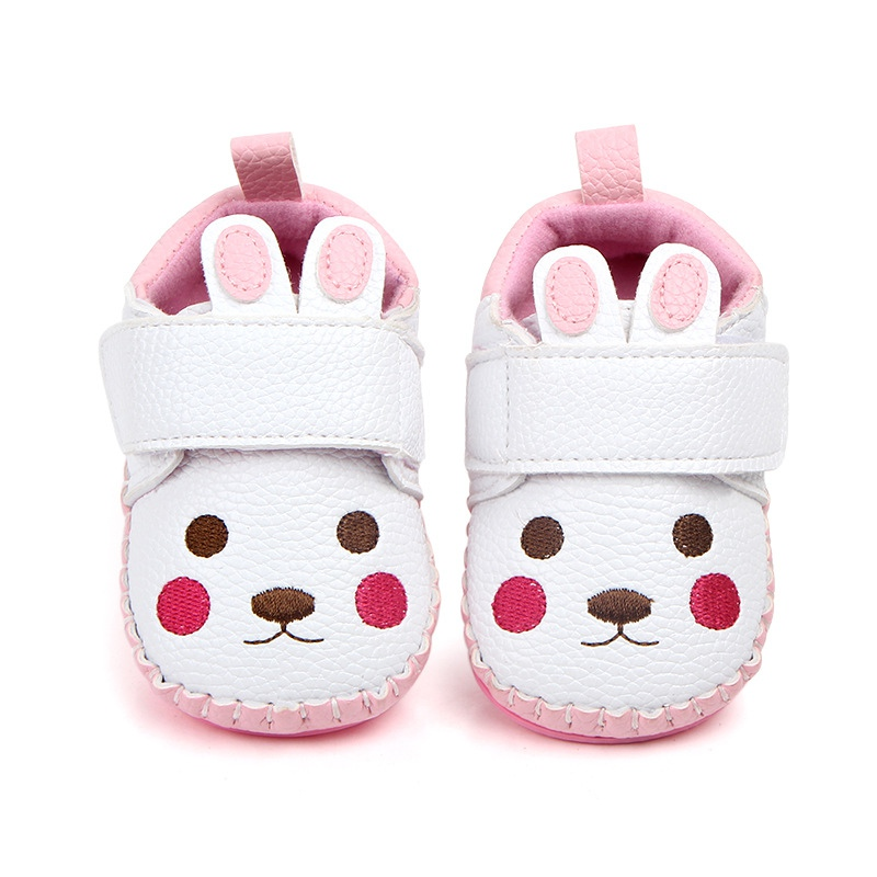 Baby Girl cute shoes lovely cartoon Pu Leather 6 color Shoes Anti-Slip Sneakers Soft Sole toddler shoes 0-12 month