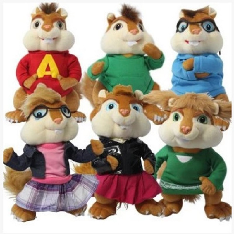 product 1 pc 28cm 11'' Alvin And The Chipmunks Soft Plush Toy For Kids Christmas Gift Alvin Simon Theodore And Dave Free shipping