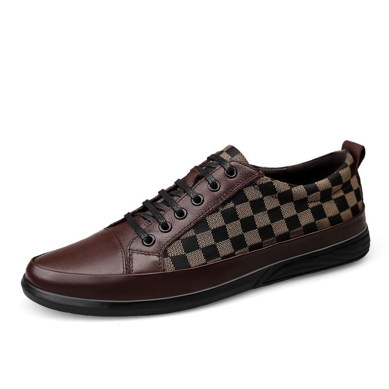 De gris brown Lujo Negro Hombre Diseñadores Zapatos Para Lona 2018 Cómodos Primavera Flats Mycolen Otoño Casual Hombres qnZ0USS8