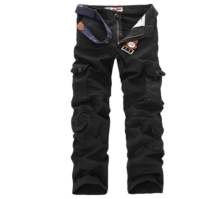 Homens moda militar calças de camuflagem macacão calças frete grátis 4 clors Plus Size 29-38 A8315