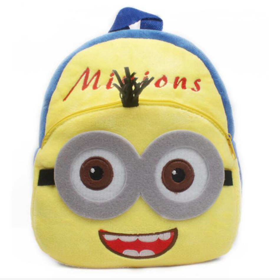 New-Cartoon-Cute-Minions-Children-Mini-Plush-Backpacks-Baby-Bee-School-Bag-toys-For-Kindergarten-Boy-Girl-Shoolbag-1