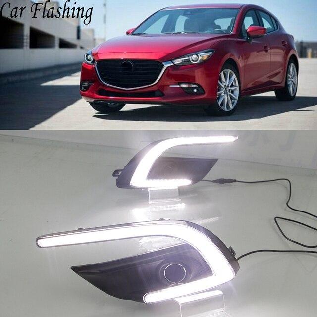 Car Flashing 1 Set Drl For Mazda 3 Mazda3 Axela 2017 2018 Led Daytime Running