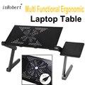 Multi-funcional ergonómico del ordenador portátil plegable portátil soporte venir con ventilador USB y cojín de ratón portátil Mesa para la cama