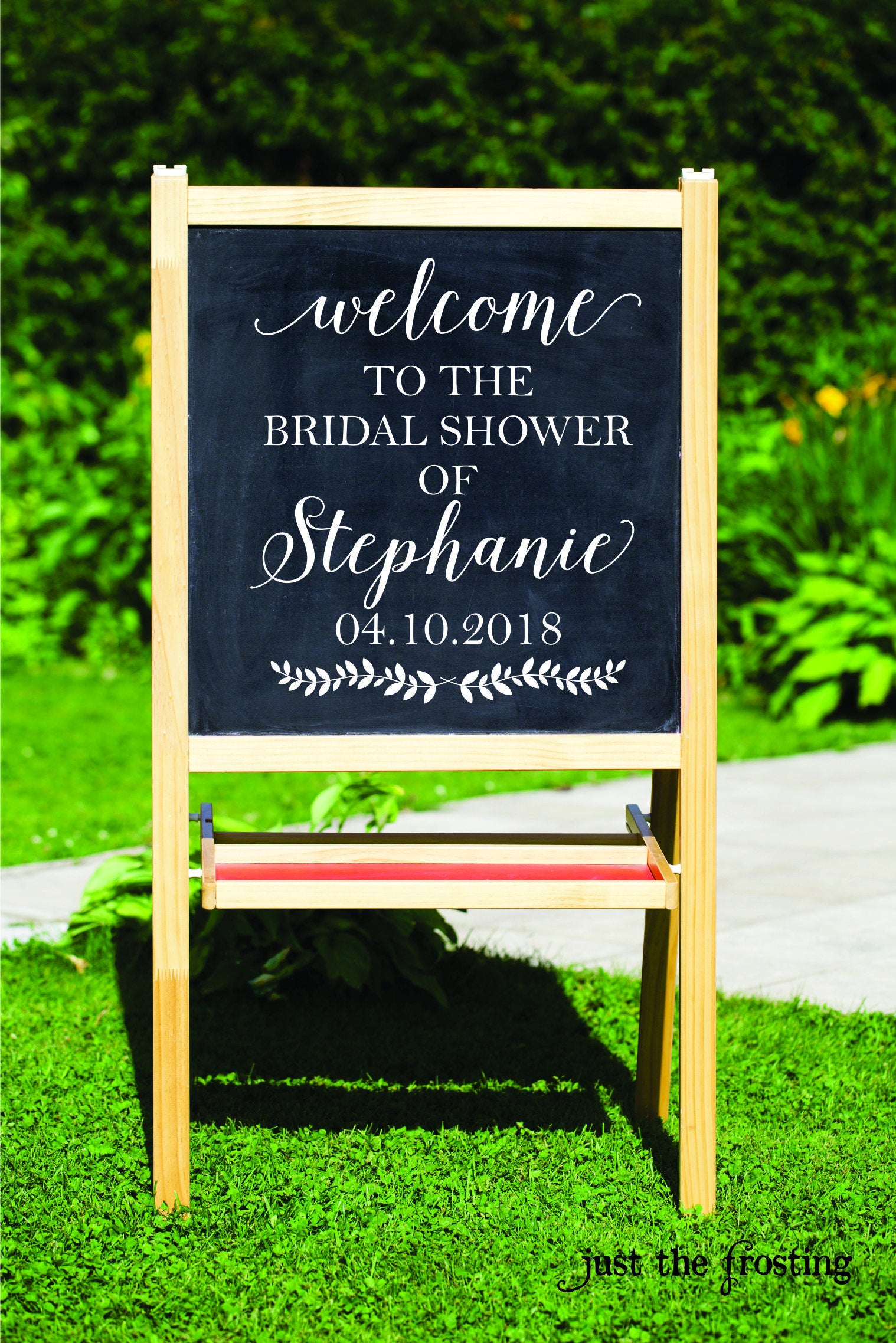 Bridal Shower Decorations Sign Decal Rustic Decor Wedding Chalkboard DIY Decals Custom