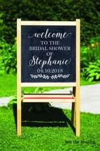 Bridal Shower Decorations Sign Decal Rustic Decor Wedding Chalkboard DIY Decals Custom