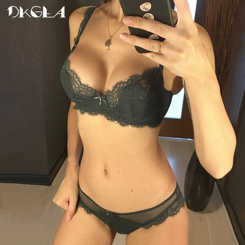 Hollow Out   Bra   Green Underwear   Set   Transparent Ultrathin Brassiere Embroidery   Bras   Sexy Lace Lingerie Women   Bra     Set   Plus Size