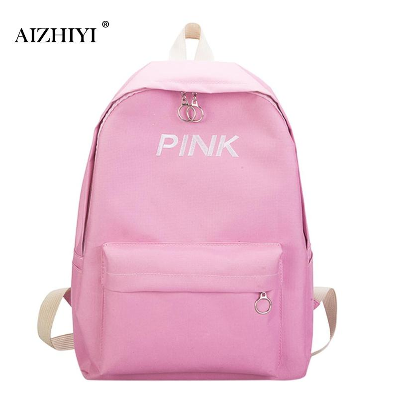 Women Letters Print Backpack Preppy Style Female College Students Back Pack Large Capacity Fashion Printing Girls Knapsack New