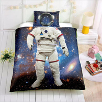 3D Cosplay Astronaut Bedding Set Digital printing Duvet Cover Set Pillowcases Twin Full Queen Super king Size Customizable