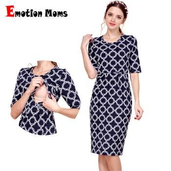 339e392d3 Emoción mamás nueva de maternidad de algodón ropa fiesta vestidos de maternidad  lactancia materna ropa para mujeres embarazadas verano vestido de enfermería