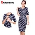 Emotion Moms новая хлопковая одежда для беременных Вечерние платья для кормящих женщин Одежда для беременных женщин летнее платье для кормящих