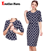 Emotion Moms New Cotton Maternity Clothes Party Maternity Dresses Breastfeeding Clothes for Pregnant Women Summer Nursing Dress
