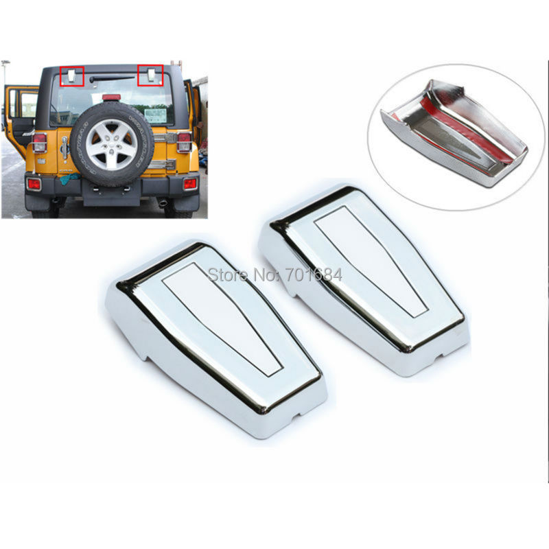 Chrome Hardtop Liftgate Rear Window Hinges Covers For Jeep