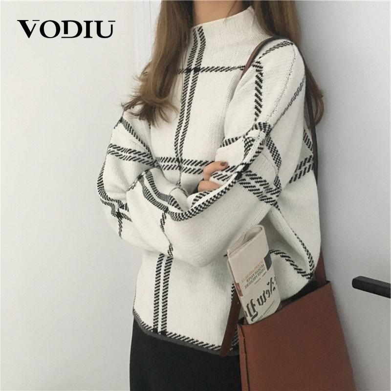 Pullover Turtleneck Women Sweaters Winter Striped Casual Jumper Knitting Long Sleeve Sweater Female Winter Tops Pull Knitwear
