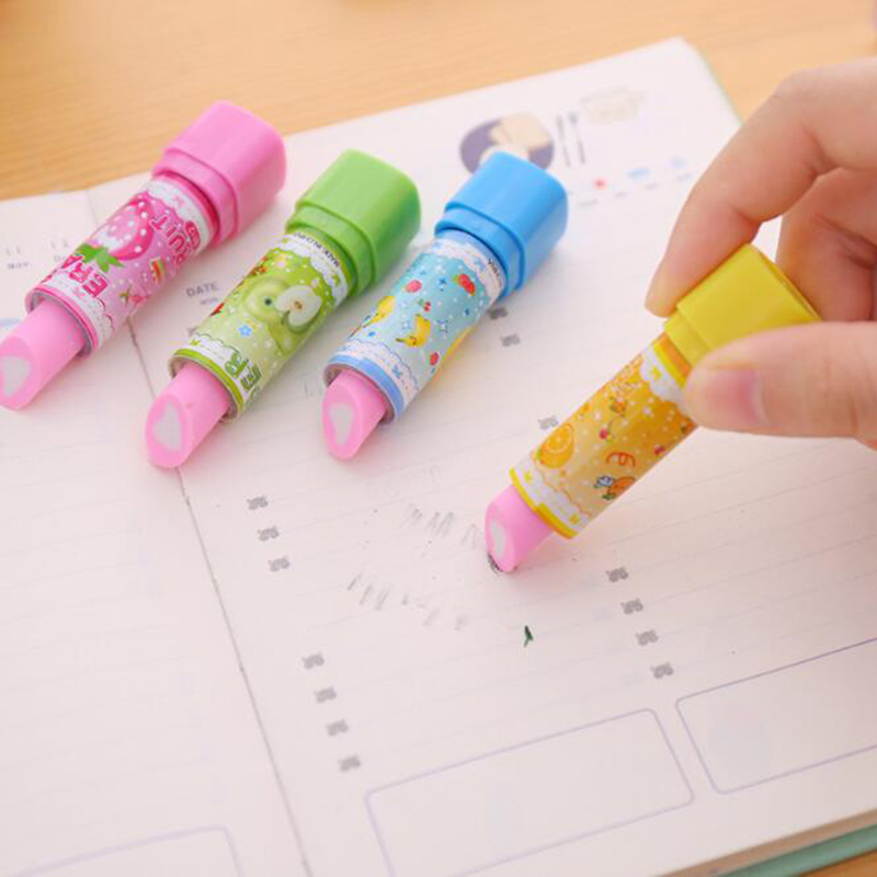 to School Novelty Supplies Rubbers Girls Gift Erasers Fruit Cute Stationery