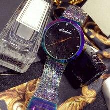 2016 Новое Прибытие Известная Марка Bling Смотреть Женщины Роскошные Кристаллы Часы Золото Сверкающих Diomand Горный Хрусталь Браслет Часы