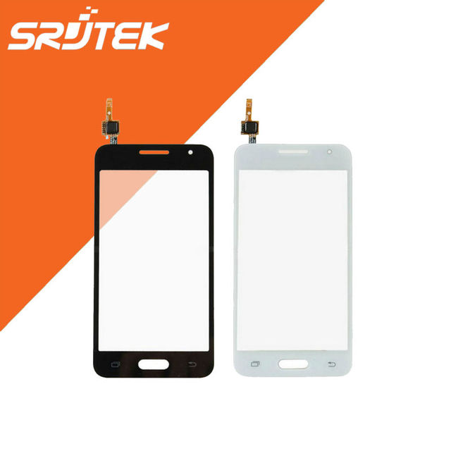 4.5 ''touch screen peças de reposição painel de digitador sensor de vidro da frente para samsung galaxy core 2 b0511 g355h g355 preto/branco