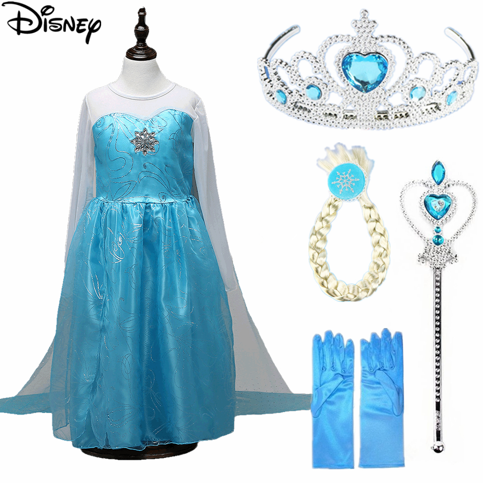 Disney Frozen dress moana Anna Elsa Kids Sofia Princess Party ...