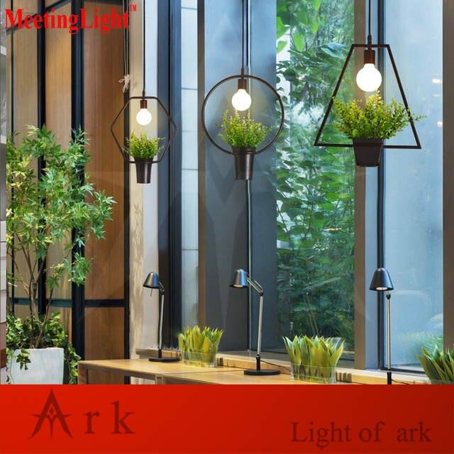 Us 29 5 Restaurant Lamp Indoor Lighting Plastic Bonsai Vintage Pendant Light Led Lights Warehouse Style Fixture In From