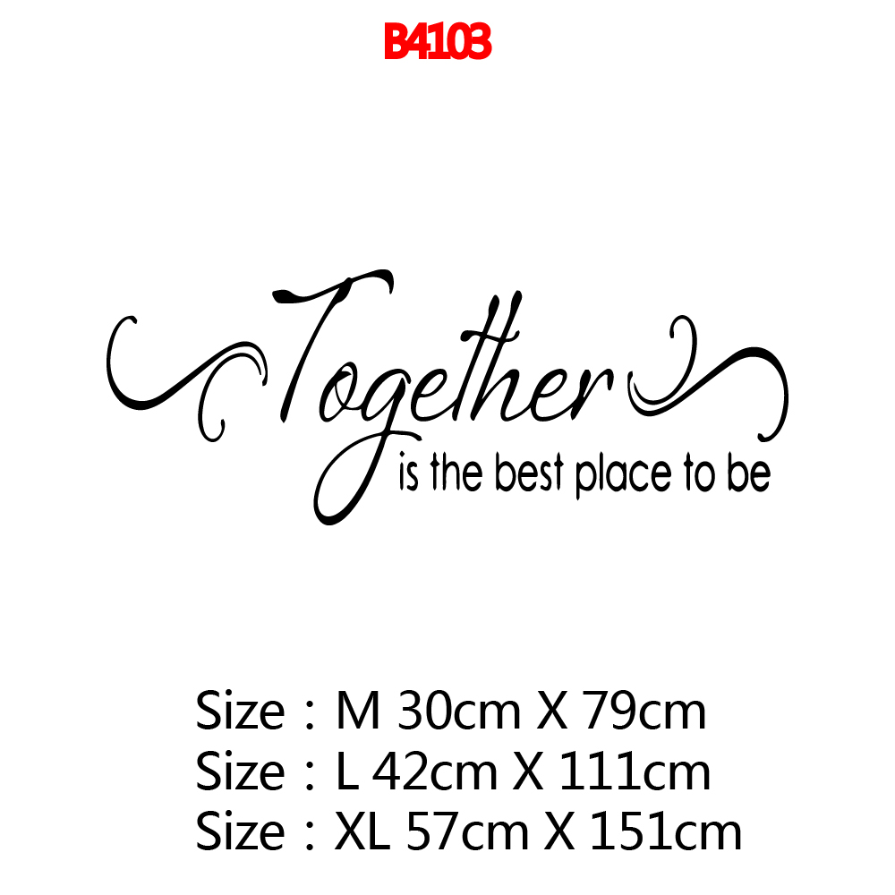Creative To Be Togeter Art Sticker Waterproof Wall Stickers vinyl Stickers Room Decoration in Wall Stickers from Home Garden