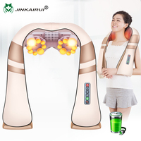 JinKaiRui Rechargeable Wireless Shoulder Massager with Heat and Shiatsu Kneading Massage Neck Back Car Home Travel Use