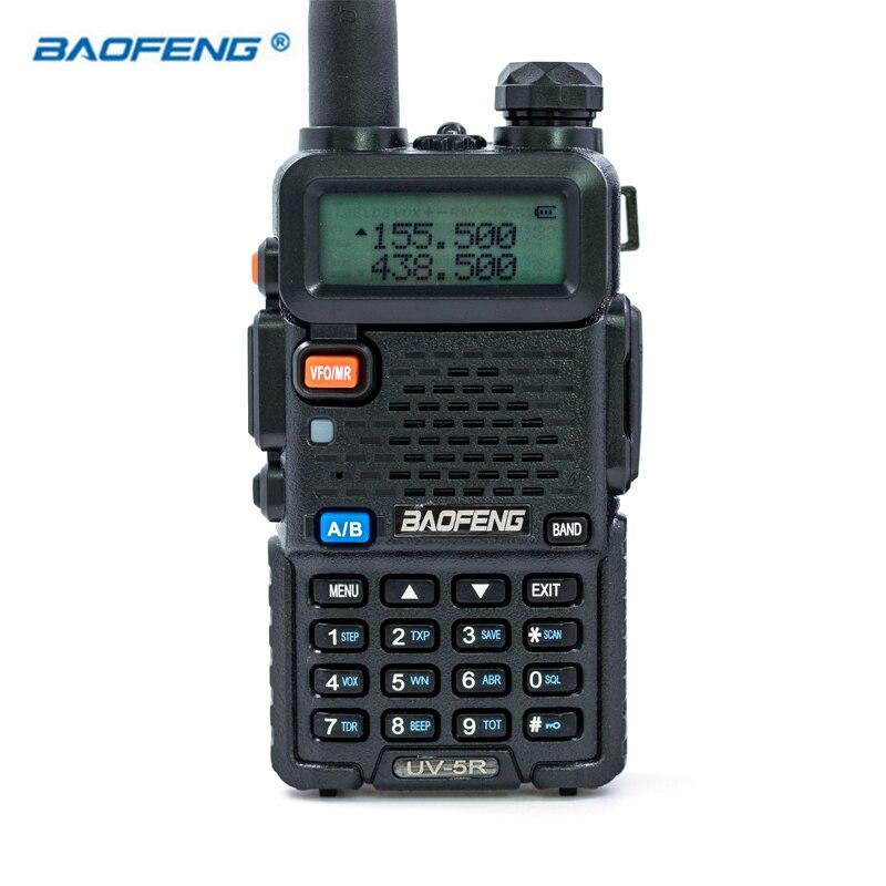 De Baofeng UV-5R VHF UHF FM de banda Dual VOX Walkie Talkie jamón Radio portátil 136-174/400-520 MHz 5 W UV5R caza Radios