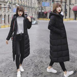 Image 5 - PinkyIsblack Chaqueta de Invierno para Mujer, Chaqueta acolchada de algodón larga con capucha gruesa, Parkas femeninas de talla grande 6XL, 2020