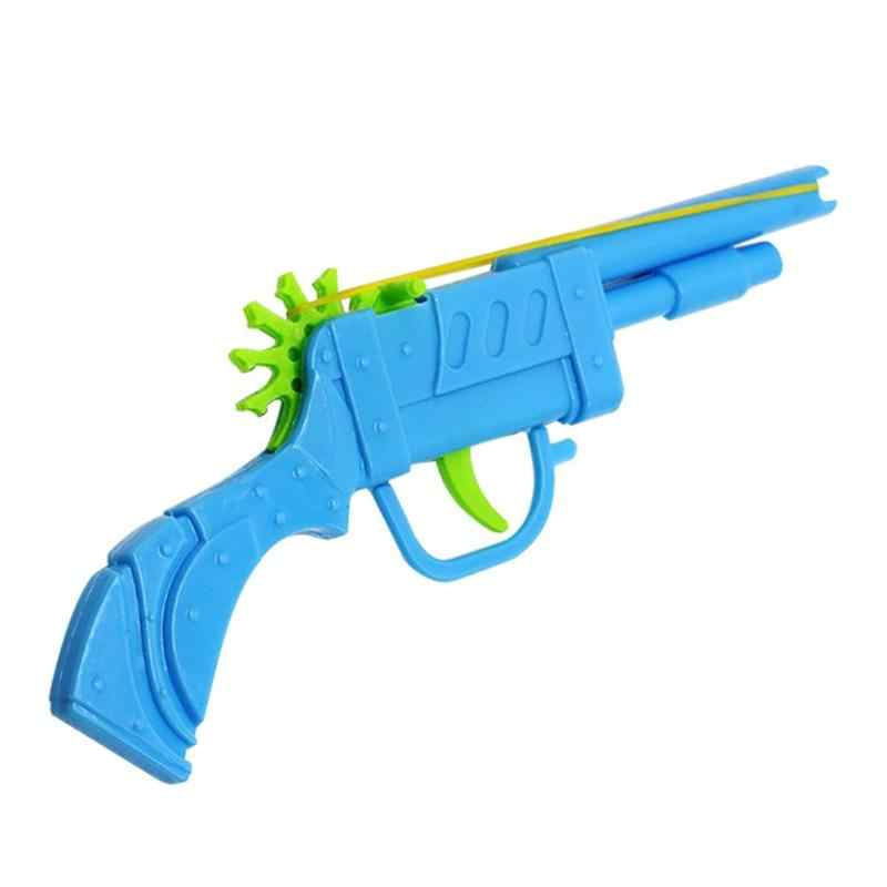 Mini gun Blocks Gift  for Children Baby Kids Plastic Rubber Band Gun Mould Hand Pistol Shooting Toy for Kids Playing Toy