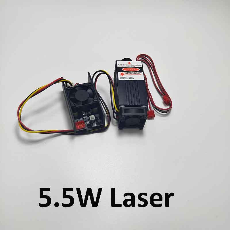 5 5w high power 450NM focusing blue laser module laser engraving and cutting TTL module 5500mw