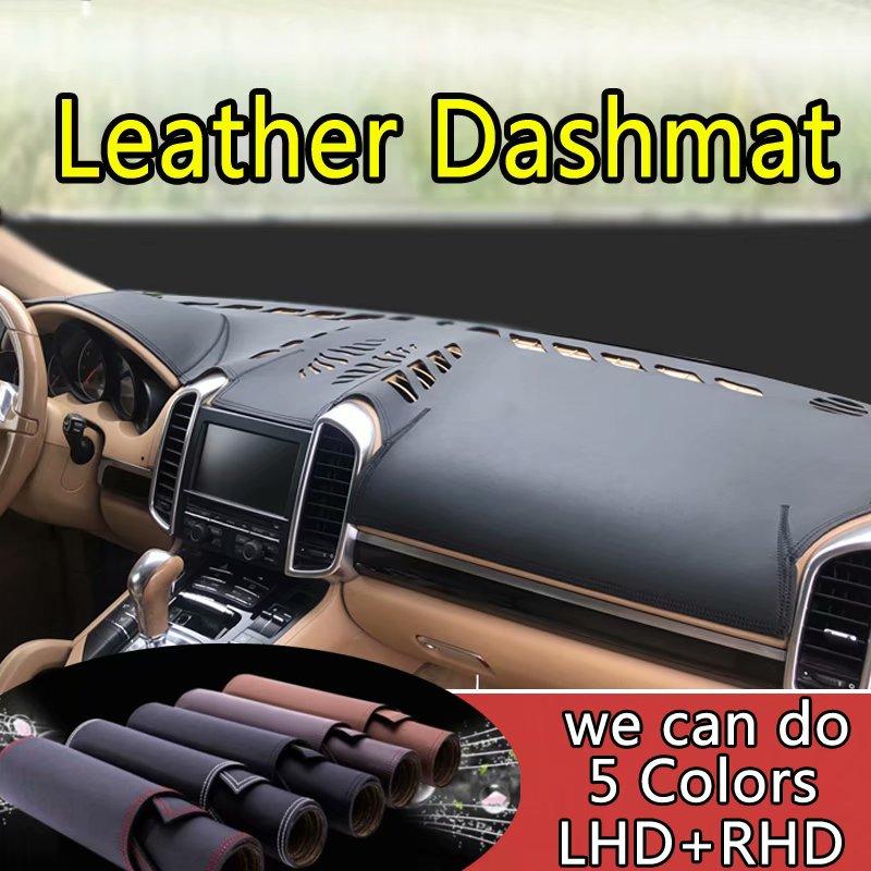 For Porsche Cayenne 2011-2017 Leather Dashmat Dashboard Cover Pad Dash Mat SunShade Carpet Custom Cover Car Styling LHD+RHD