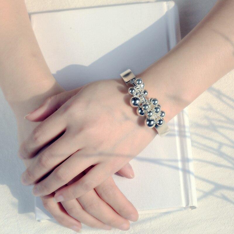 L & P Reale 925 Sterling Silver Bracciali Braccialetti di Modo di Disegno Originale Multi Balls Fine Del Braccialetto Per Le Donne di Nozze di Fidanzamento regalo