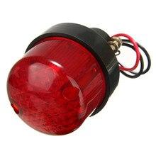 Mayitr 12V Motorcycle License Plate Mount Holder Brake Tail Light Universal Motorbike Red Lens Lamp High Quality